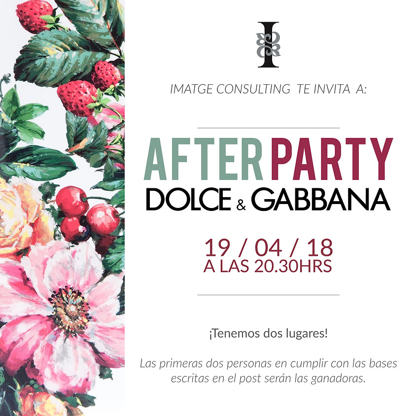 AFTER PARTY CON DOLCE & GABBANA