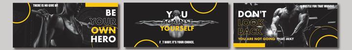 Banner design for T1 Fitness