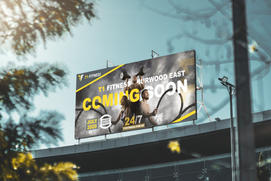 T1 Fitness Billboard Banner Design