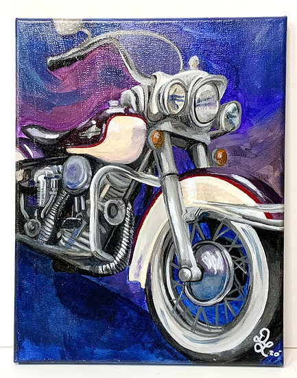 Motorcycle Madness Acrylic Painting