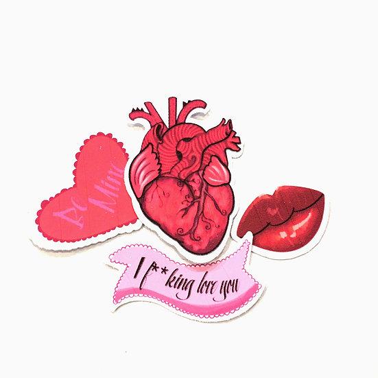 Valentines Art Stickers (26 stickers)