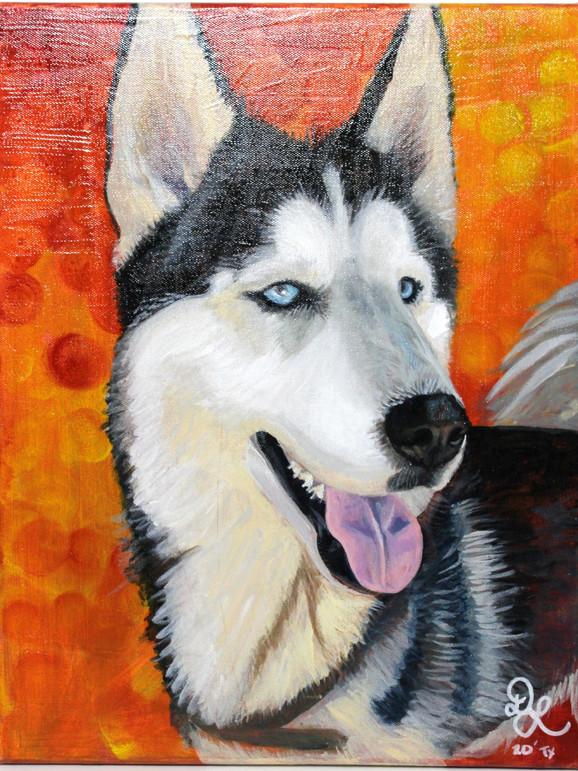 Bane. Custom Acrylic Puppy Portrait .jpg