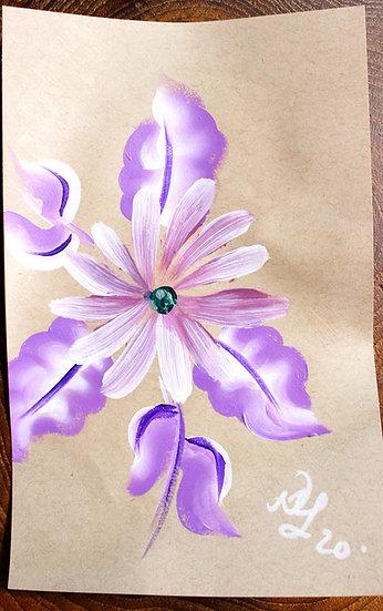 Purple Flower Power Original Painting