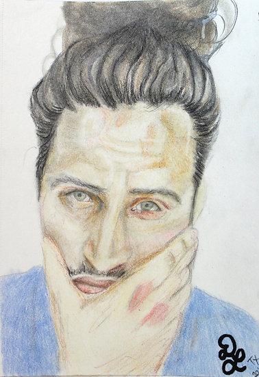 Long Hair Don't Care Portrait Sketch