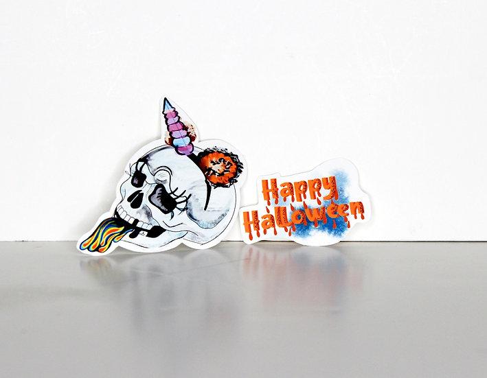 2020 Halloween Stickers Single Set