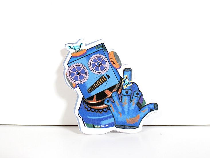 Rough Robot Single Sticker