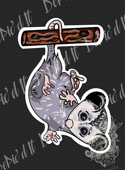 Single Opossum Sticker Set
