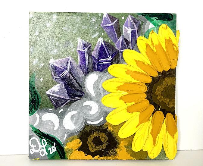 Quartz and Marble Sunflowers