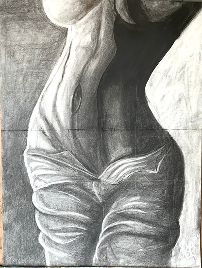 Charcoal Body Study (18inx24in)