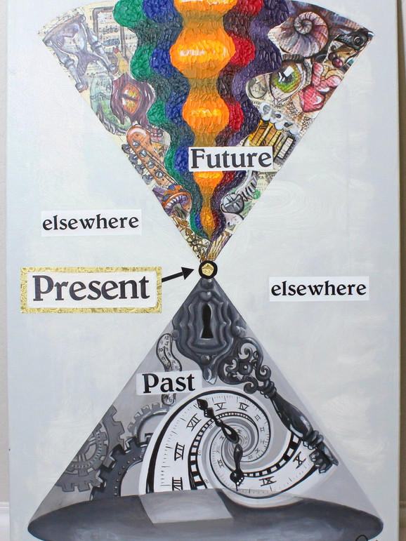 Artful expression of Space and Time Diagram.