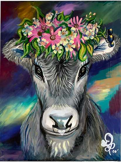 T.H.O.T. (That Heifer Over There) Original Painting