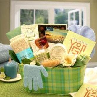 A Little Yoga & Green Tea Essentials Gift Basket!