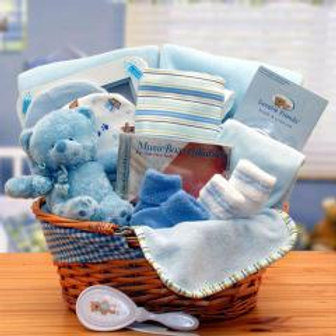 New Baby Gift Basket-Blue!
