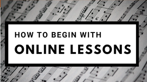 How to Begin with Online Lessons