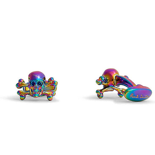 Paul Smith Skull & Crossbones Cufflinks - Rainbow Colour