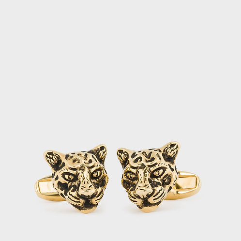 Hire Paul Smith Gold Leopard Cufflinks from WatchVIP