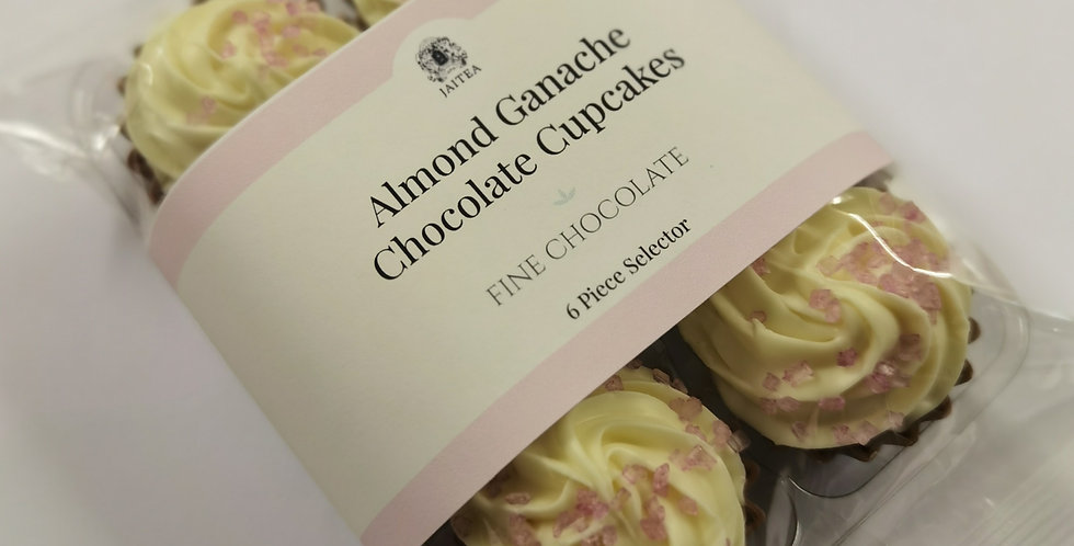 6 x Miniature Cupcake Chocolates with Almond Ganache