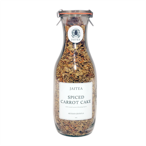 Spiced Carrot Cake Granola with Pecans & Blonde White Chocolate