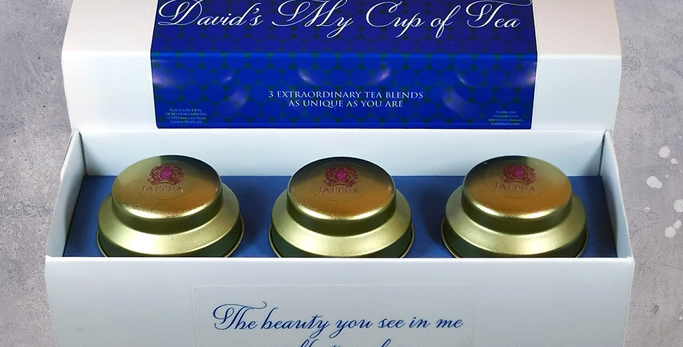 'You're My Cup of Tea' Blue Gift Set