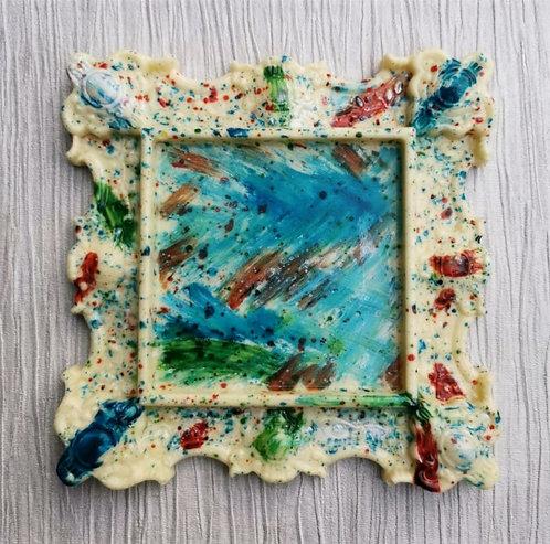 'Picasso' Creamy Cheesecake Ornate Chocolate Frame