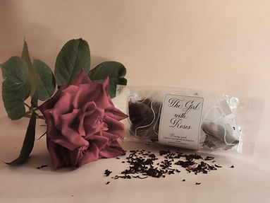 The Girl with Roses Tea