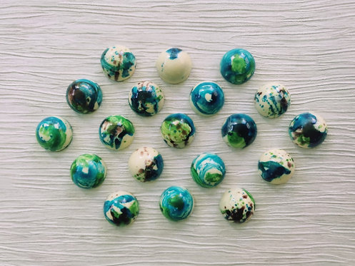 6 x 'GAIA' Earth Truffles with Rose & Lavender Cocoa Ganache Filling