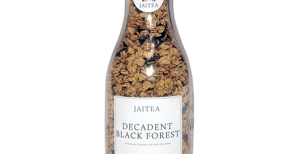 Decadent Black Forest Granola with Black Cherries and Dark Chocolate