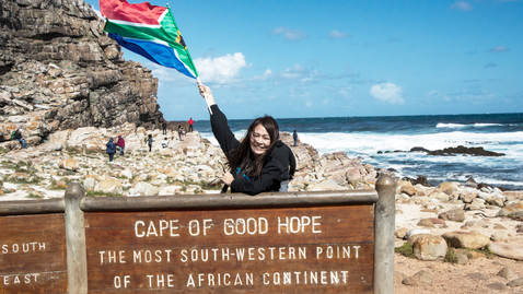 The southern tip of Africa.