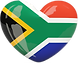 South Africa Flag Heart