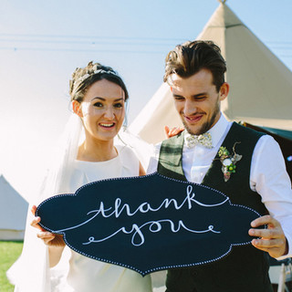 Great British Tipis: Tipi wedding hire, Just married
