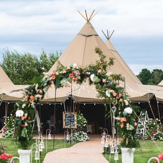 Great British Tipis: Tipi wedding hire, Countryside wedding