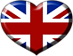 Brittish Flag Heart