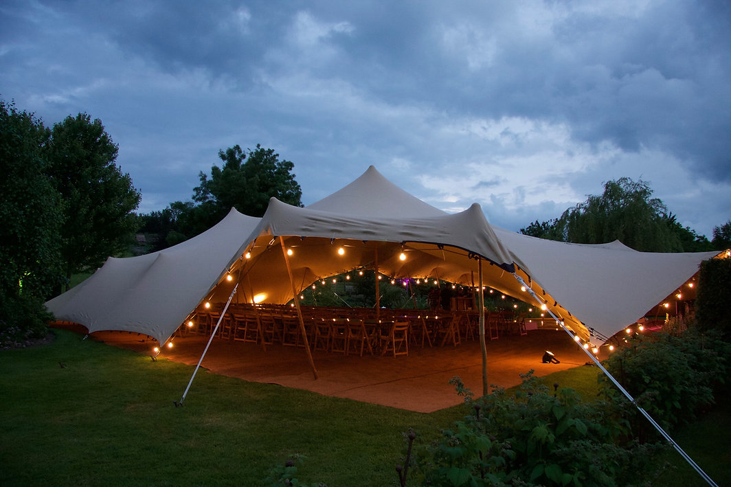 Stretch Tent with fairy lights