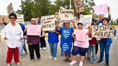 Angry protestors.