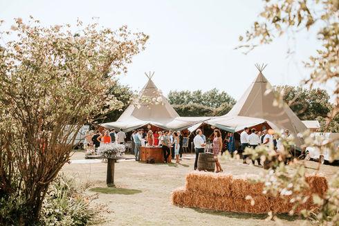 Tipi hire for weddings: Tipi wedding photography