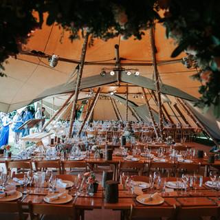 Great British Tipis: Tipi wedding hire, Inside Tipi