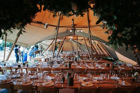 Inside Tipi: Tipi wedding photography
