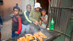 Junior chefs strike a pose.