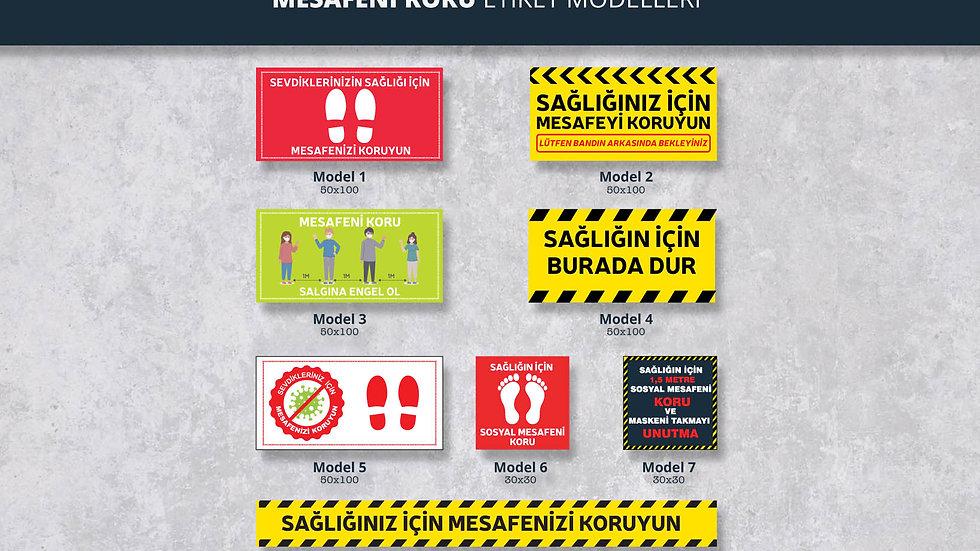 Korona Virüs Zemin Etiketleri