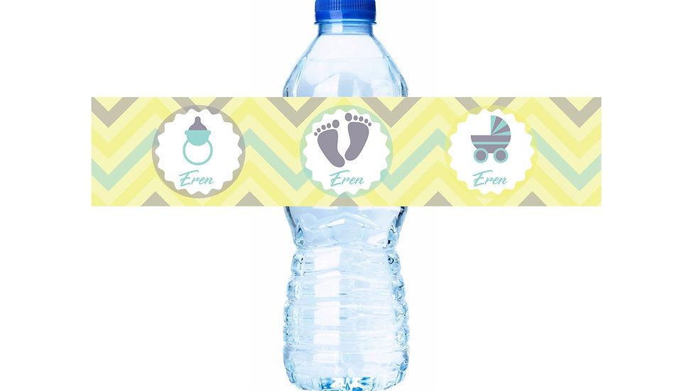 Su Şişesi Etiketi Yeni Doğan Temalı