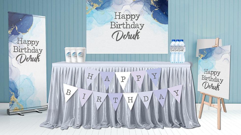 Doğum Günü Seti Mavi Temalı