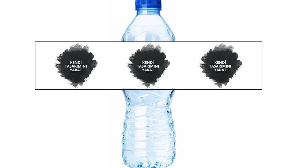 Kendi Su Şişesi Etiketi Temanı Baştan Yarat