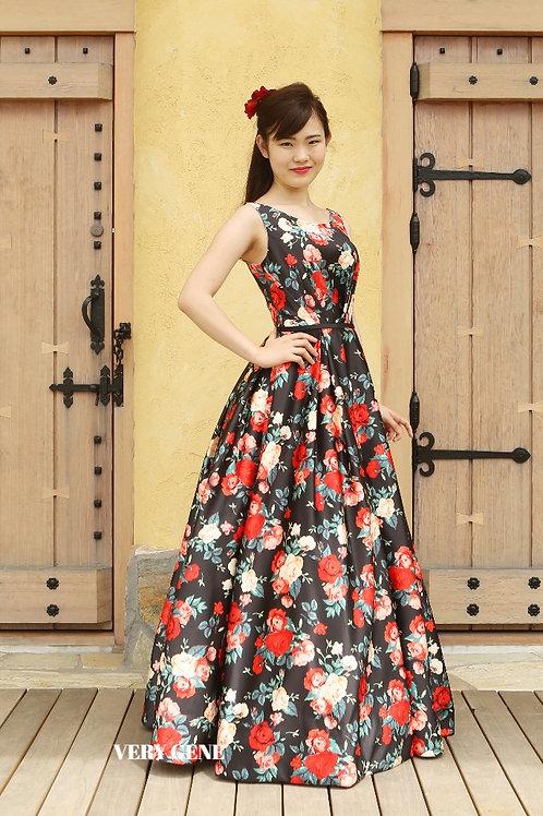 フラワープリントドレス(cad00020)