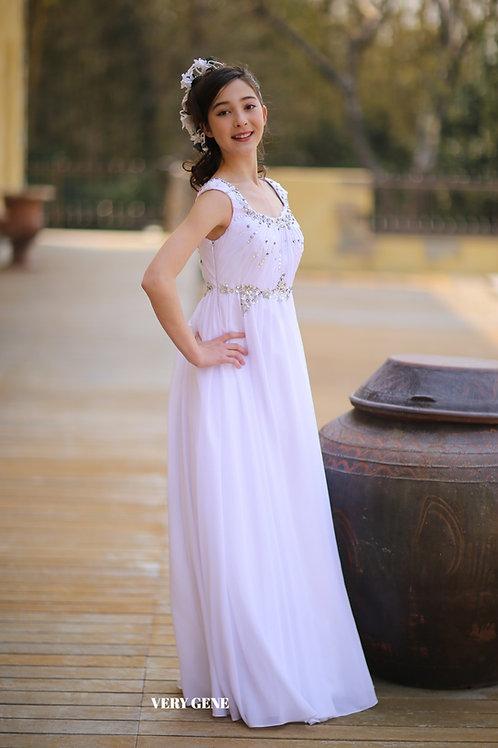 ピュアホワイトクリスタルドレス (cad04013)