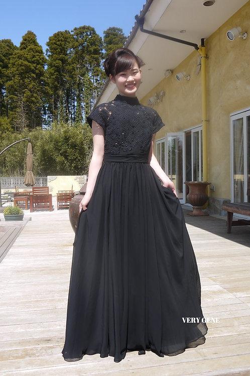 スリーブレースドレス(nad00026)