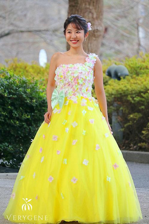 ワンショルフラワーポップドレス(nad00053)