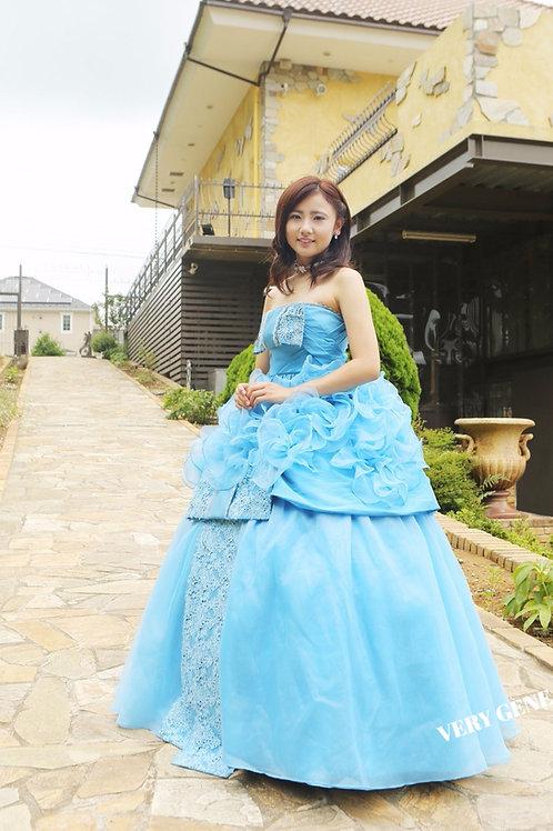 ブルーパールリボンドレス(nad00021)