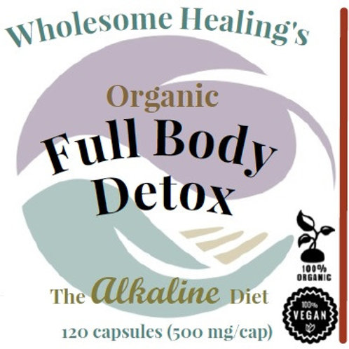 Full Body Detox | Organic (120 Capsules) | Vegan | Alkaline
