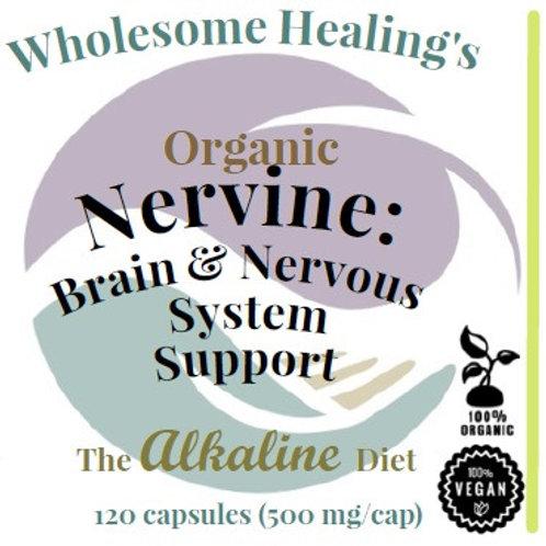 Nervine | Organic | Alkaline | Vegan | 120 Capsules