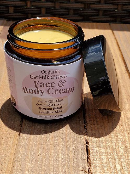 Oat Milk Face & Body Cream | Eczema Cream | Organic